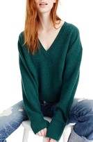 J.Crew Women's V-Neck Crop Thermal Cashmere Sweater