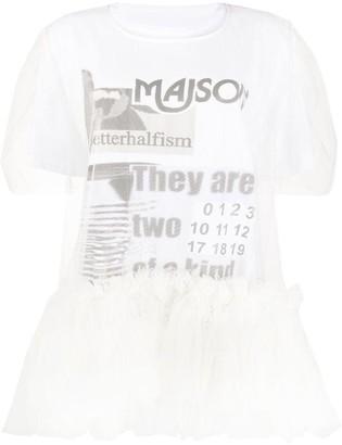 MM6 MAISON MARGIELA Tulle Layered T-Shirt