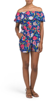 Juniors Romper With Pom Poms