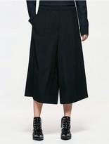 Calvin Klein Platinum Wool Wide Cropped Pants