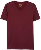 Polo Ralph Lauren Bordeaux Custom Cotton T-shirt