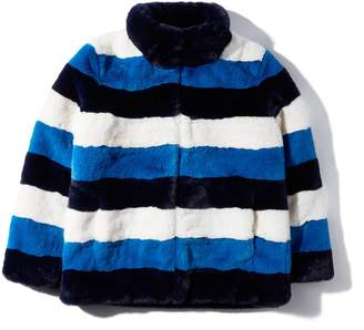 Kule Spooner Striped Faux Fur Jacket