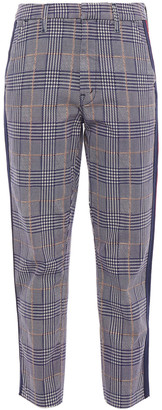 Mother The Shaker Prep Prince Of Wales Checked Cotton-blend Tapered Pants