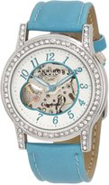 Akribos XXIV Women's AKR475AQ Open Heart Skeleton Automatic Dress Watch