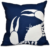 "Crab Dip, Animal Print Pillow, Navy Blue, 16""x16"""