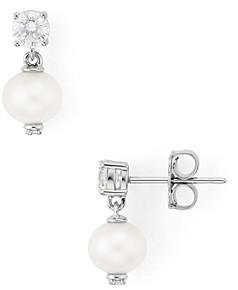 Nadri Sutton Cultured Freshwater Pearl Drop Earrings
