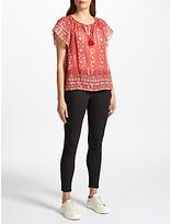 Joie Arevig Silk Top, Terracotta Bloom