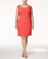 Calvin Klein Plus Size Cross-Front Sheath Dress