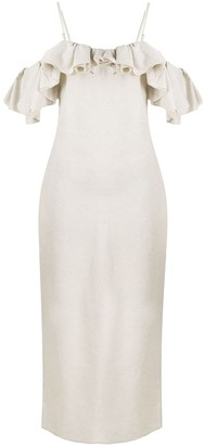 Jacquemus Pampelonne frilled midi dress