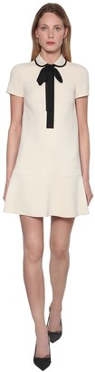 RED Valentino Crepe Envers Satin Mini Dress W/Bow