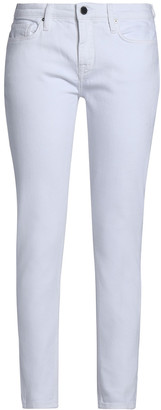 Victoria Victoria Beckham Cropped Mid-rise Skinny Jeans