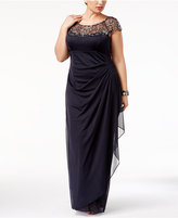 Xscape Evenings Plus Size Embellished Column Gown