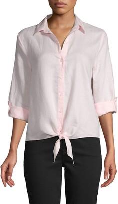 Saks Fifth Avenue Tie-Waist Linen Shirt
