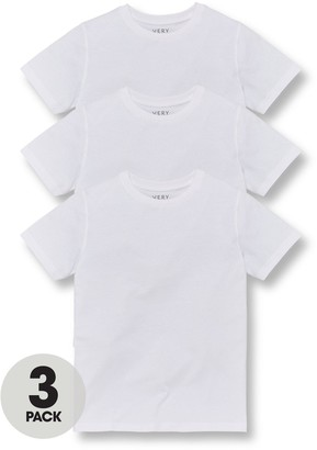 Very Unisex 3 Pack School Sports T-shirts - White