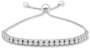 Wrapped Diamond Row Bolo Bracelet (3/4 ct. t.w.) in Sterling Silver, 14k Gold-plated Sterling Silver, & 14k Rose Gold-plated Sterling Silver