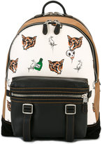 Coach fox print backpack - men - Leather/Suede - One Size