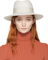 Maison Michel Off-white Felt Virginie Fedora