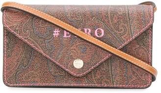 Etro Paisley Logo Print Satchel Bag