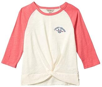 Lucky Brand Kids Belinda Top (Big Kids) (Whisper White) Girl's Clothing