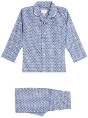 Derek Rose Kids Diamond Flower Print Pyjama Set (3-16 Years)