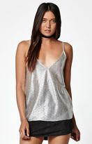 La Hearts Metallic Double V Tank Top