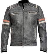NMFashions Men's Vintage Motorcycle Cafe Racer Retro Moto Distressed Leather Jacket