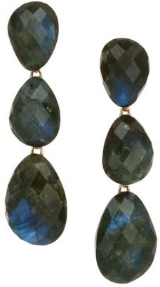 Monica Vinader Nura 18K Rose Gold Vermeil & Labradorite Triple Drop Earrings