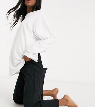 ASOS DESIGN Maternity mix & match straight leg jersey pyjama trouser in black