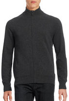 Black Brown 1826 Cashmere Full Zip Sweater