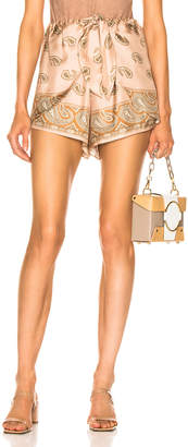 Nanushka Naila Shorts in Paisley Print | FWRD