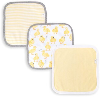Burt's Bees Little Ducks Organic Baby Washcloths 3 Pack