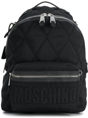 Moschino quilted effect backpack