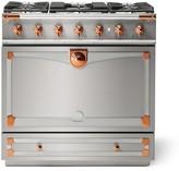 Williams-Sonoma Williams Sonoma Cornue Fe Albertine Dual-Fuel Range Stove, Stainless-Steel