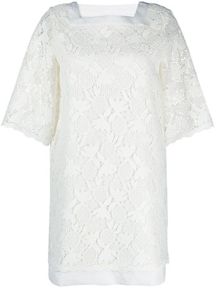 See by Chloe Embroidered Short-Sleeved Mini Dress