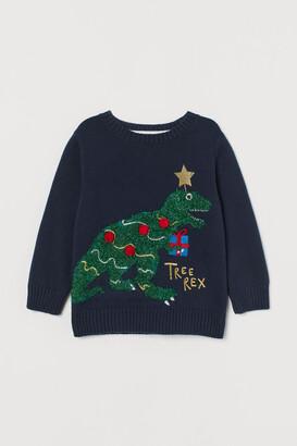 H&M Appliqued Sweater
