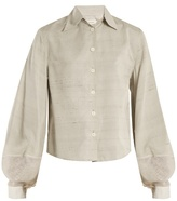 Lemaire Balloon-sleeve cotton-blend shantung shirt