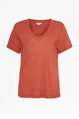 Great Plains Lomita Linen Blend Tshirt Redwood - 8 - Red
