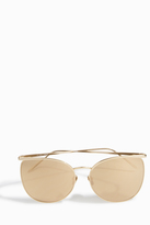 Linda Farrow Luxe Semi Rimless Square Sunglasses