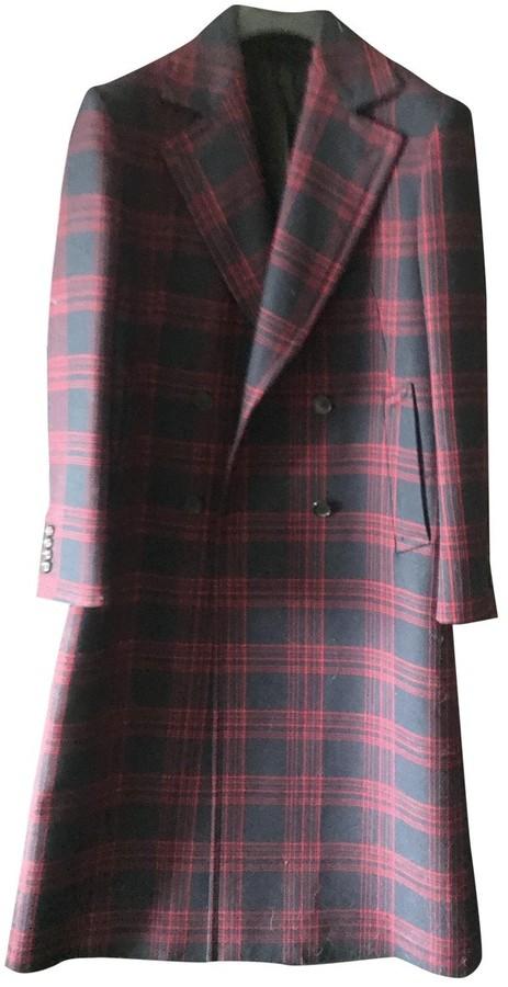 Calvin Klein Navy Wool Coat for Women