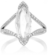 Martin Katz Octagonal Marquise Rose Cut Diamond Ring