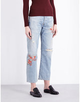 Citizens of Humanity Cora embroidered straight high-rise jeans
