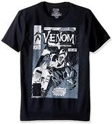 Marvel Men's Multi Venom Logos on a Short Sleeve Graphic T-Shirt