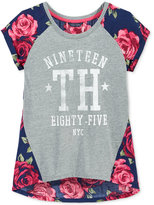Tommy Hilfiger Mixed-Media Graphic-Print T-Shirt, Big Girls (7-16)