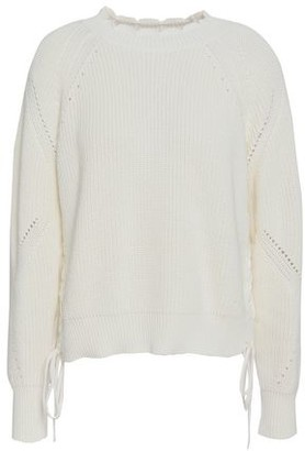 Joie Pointelle-trimmed Cotton Sweater