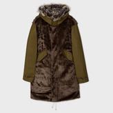 Paul Smith Men's Khaki Faux Fur Panelled Parka