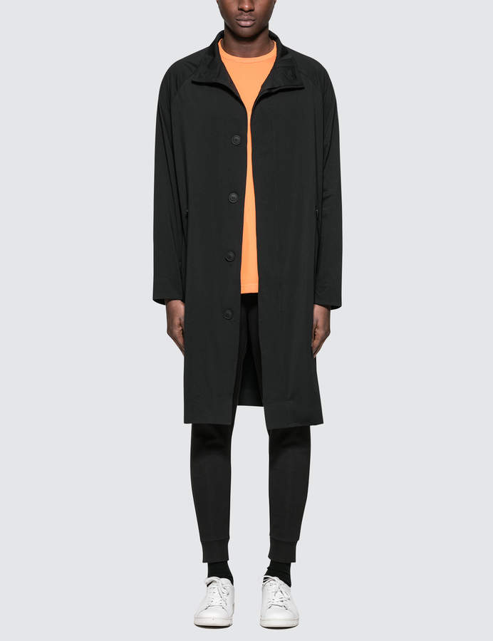 Calvin Klein Performance Perforated Logo Stand-Up Collar Trench Coat