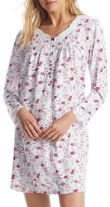 Eileen West Cozy Roses Sweater Knit Nightgown