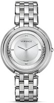 Versace Thea Stainless Steel Watch with Silver Sunray Dial, 39mm