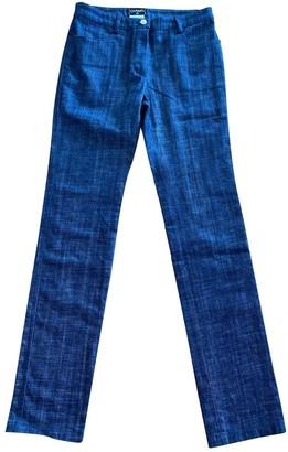 Chanel Blue Cotton - elasthane Jeans for Women Vintage