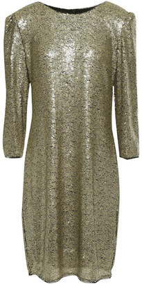 DKNY Sequined Tulle Mini Dress